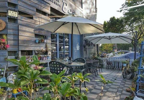 高雄-蔬食餐廳推薦-聽見花開咖啡館