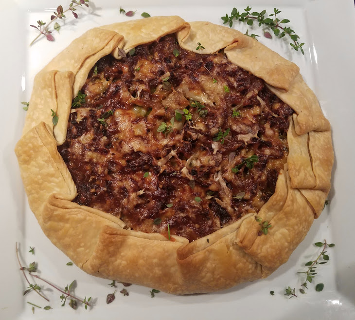 Meatless Monday – Caramelized Onion & Brussels Sprouts Galette Recipe
