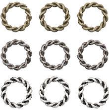 Tim Holtz Assemblage Links 9/Pkg - Braided Rings