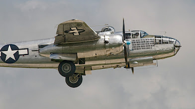"Photo: The Minnesota Wing of the Commemorative Air Force is proud to fly the North American B-25 Bomber, ""Miss Mitchell."""