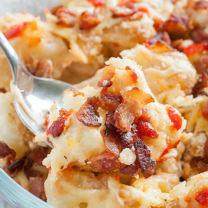 Bacon Sriracha Cauliflower au Gratin Recipe   Yummly