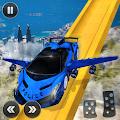 US Police Flying Car Mega Ramp Stunt Racing Games