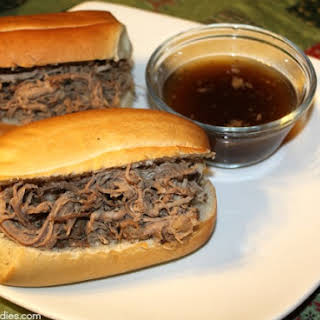 Crock-Pot Balsamic Roast Beef Dip Sandwiches.