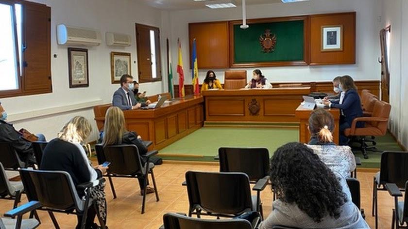 Pleno extraordinario del Ayuntamiento de Mojácar.