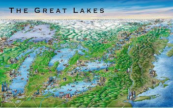 Photo: Great Lakes Geopictorial Map 2005 St-Lawrence Seaway Management Corp.