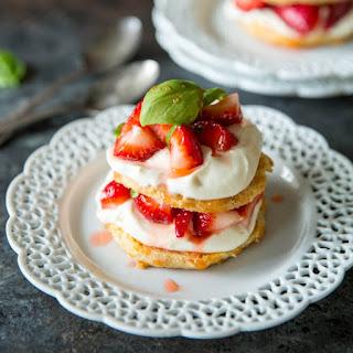 Strawberry Shortcake with Mascarpone Cream.