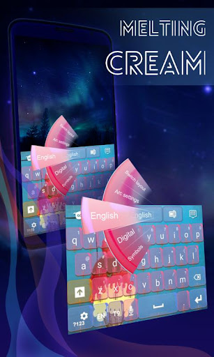溶融アイスクリームのキーボード