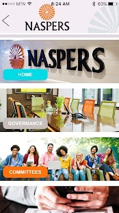Naspers Governance Portal- screenshot thumbnail