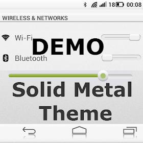 Solid Metal Demo Cm10 Theme.