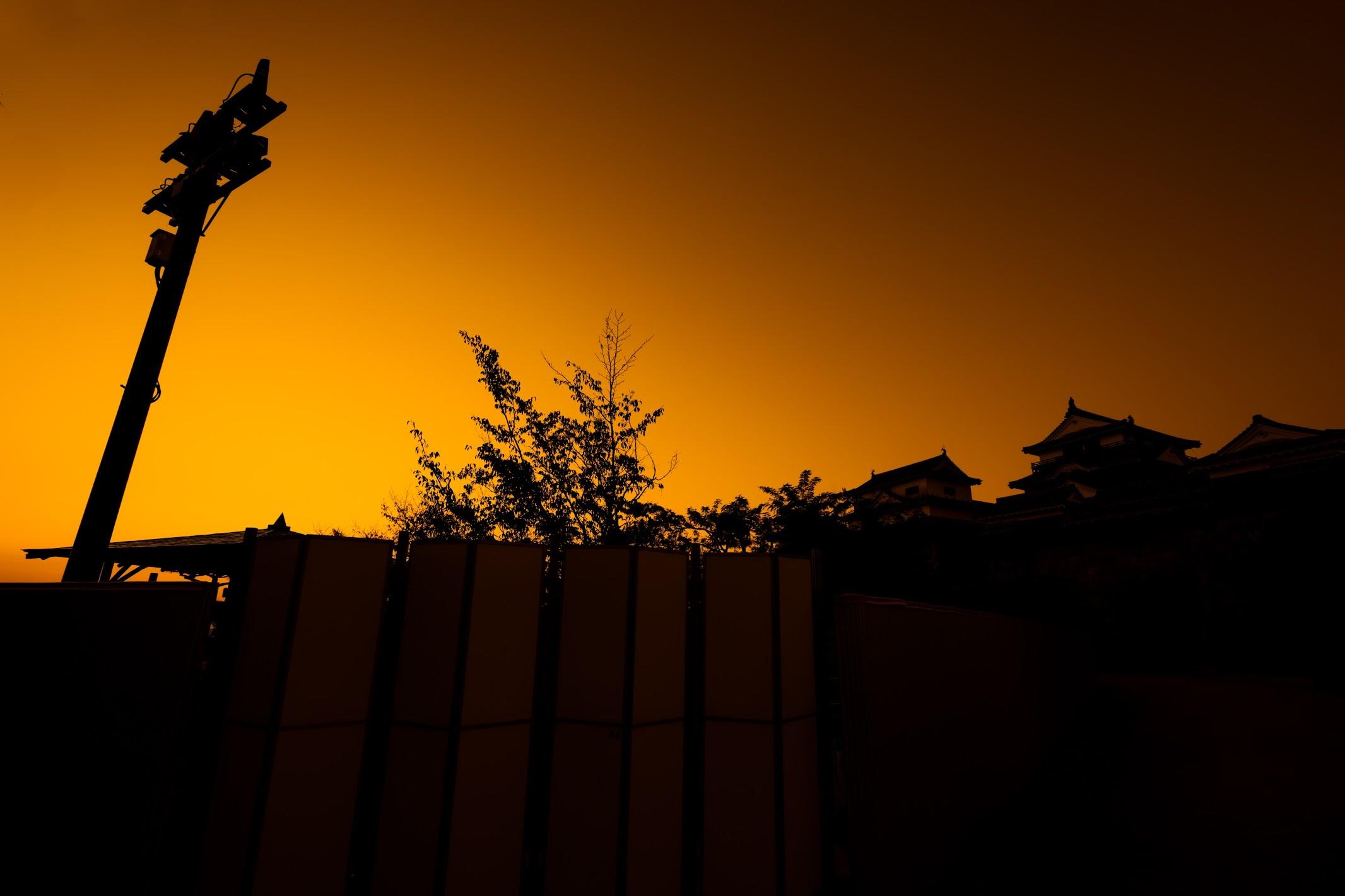 松山城 夕景2