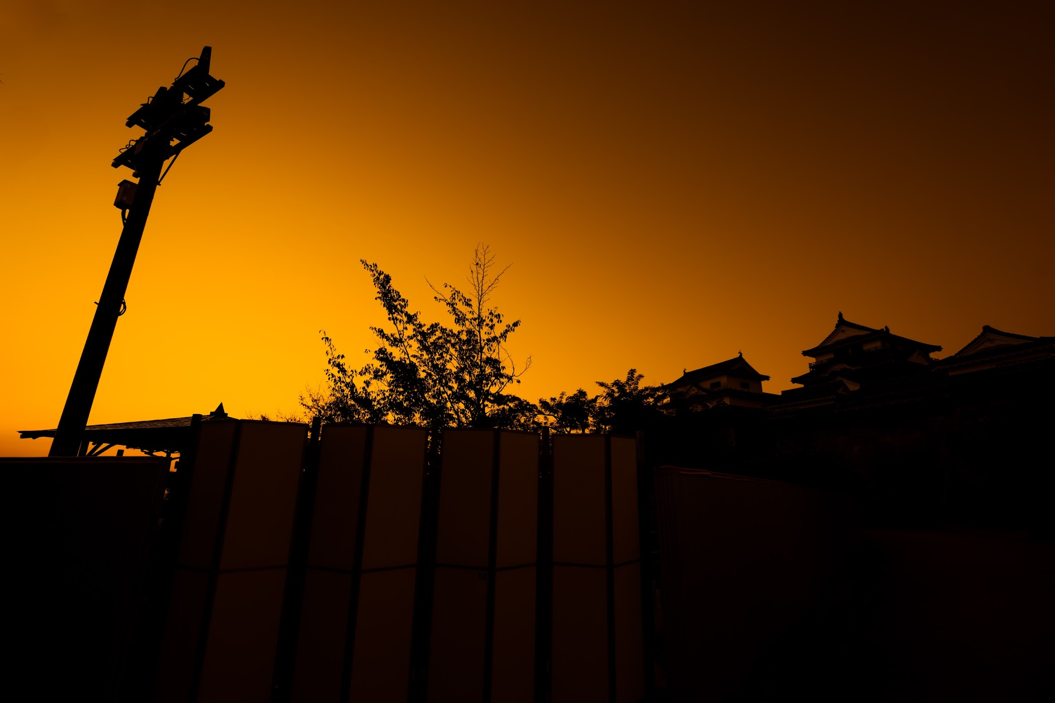Matsuyama Castle evening view2