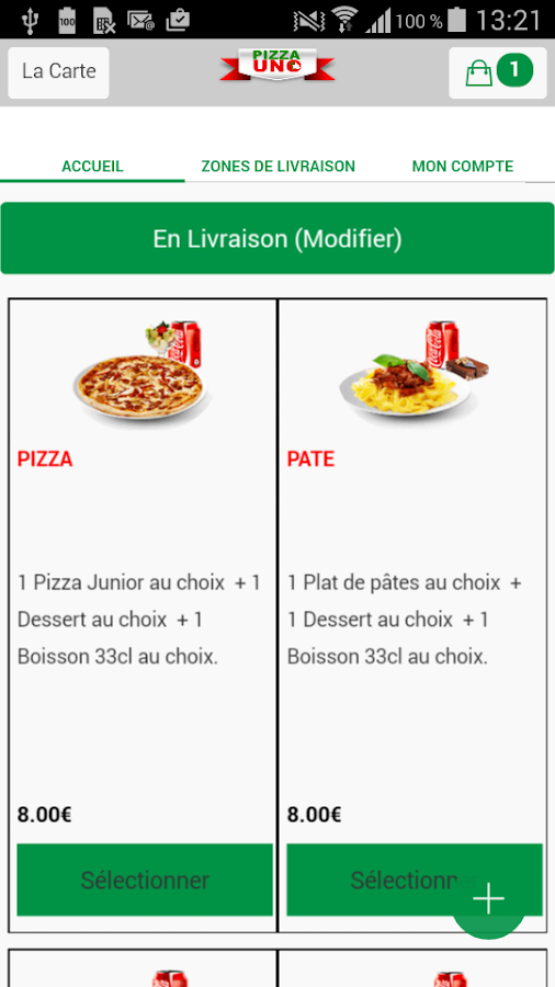 Pizza Uno Fresnes- screenshot