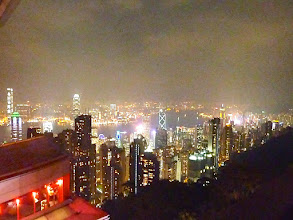 Photo: A view of Hong Kong at night from the Victoria Peak