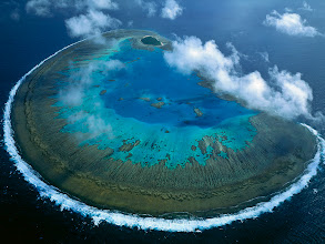 Photo: Lady Musgrave Island coral atoll in Capricorn-Bunker group, Great Barrier Reef Marine Park, World Heritage Site, Queensland, Australia