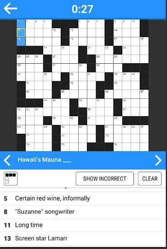 Code Triche Crosswords - 800 easy and hard crossword puzzles APK MOD screenshots 6