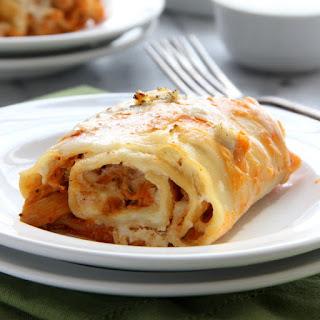 Buffalo Chicken Lasagna Rolls.