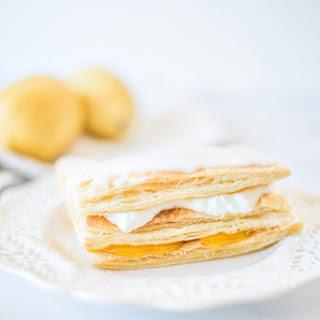 Lemon Curd & Fresh Cream Napoleons.