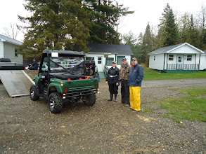 Photo: Sat, May 14/11 SBC ATV Day - MaryAnn & David Purinton, Mike Palmer. Is Mike trying to convince Dave to trade machines?