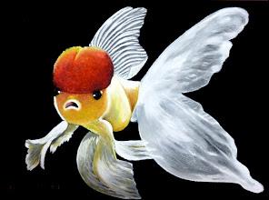 Photo: 418, Нетронина Наталья, Серия Золотые рыбки (Невеста), Масло, замша (живопись по бархату), 40х30см,