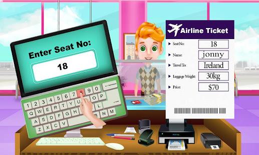 letní dovolená na letišti výlet: letuška - náhled