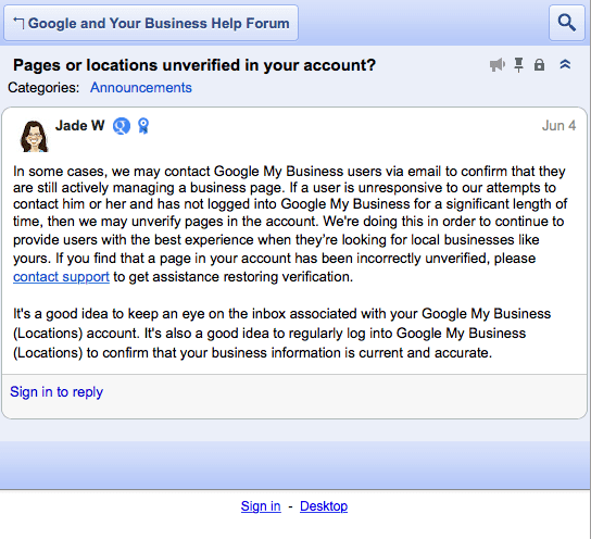 Login op Google+ Mijn Bedrijf