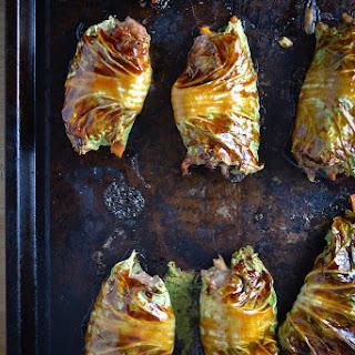 Asian-Style Stuffed Cabbage Rolls.