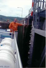 Photo: Our ship was just small enough to fit through a lock with about one foot clearance on each side.