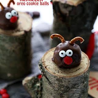 OREO Cookie Ball Reindeers.