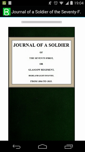 Journal of a Soldier