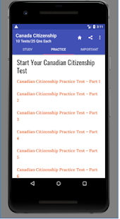 Free Canadian Citizenship Tests - náhled