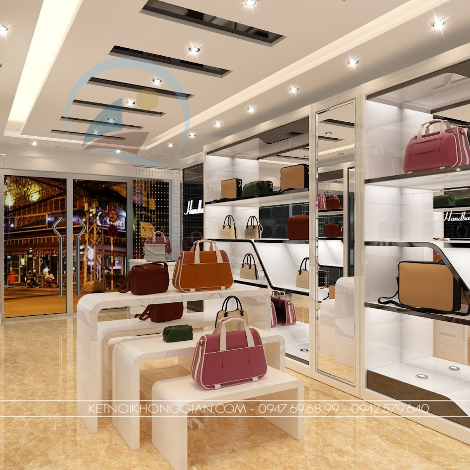 thiết kế shop túi xách 6