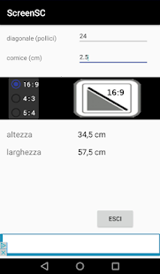 Screen Size Calculator - náhled