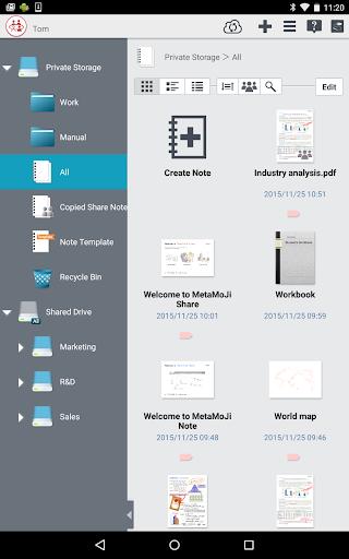 MetaMoJi Note for Business 3 3.7.7.0 screenshots 9