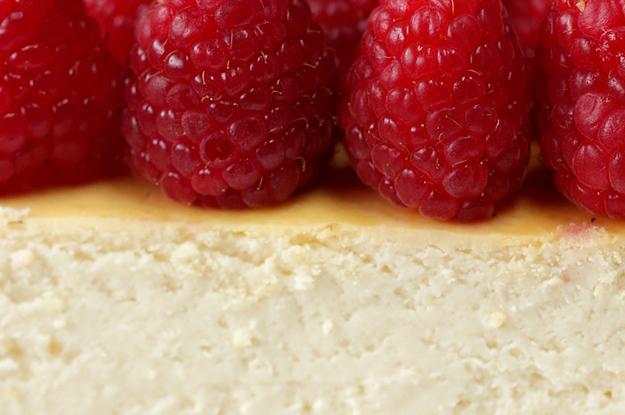Healthier Raspberry Cheesecake