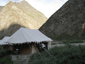 Photo: Our tent in Jispa