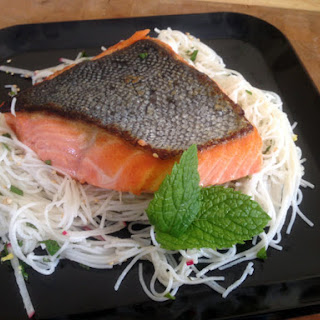 Salmon with Ginger Noodles