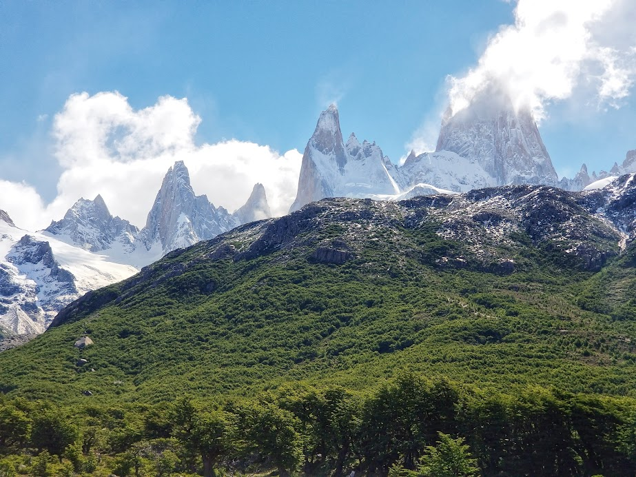 The Fitz Roy range as seen from Poincenot Campground