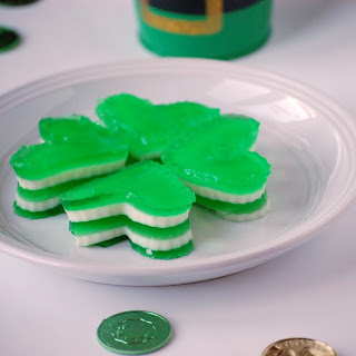 Striped Shamrock Jello
