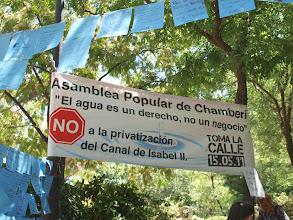 Photo: La Asamblea de Chamberí pone tres Murales del Agua.