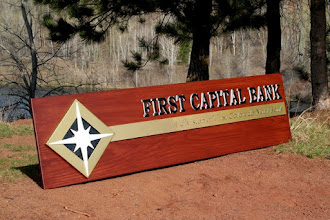 Photo: Carved Sign Illinois C/O First Colorado National Bank Lobby Sign. See more wood carved Bank Signs @ signs at www.nicecarvings.com