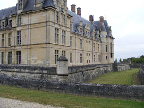 Photo: Although fortified with walls and a dry moat, the Château is of an era when such castles were built with gracious living, much more than defensive needs, in mind.