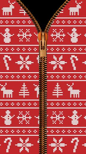 Christmas Zipper Lock Screen