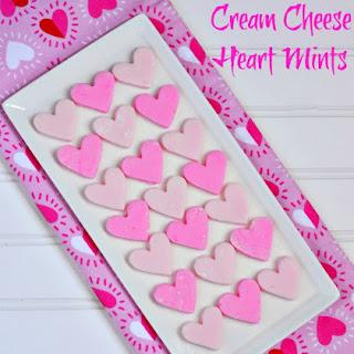 Cream Cheese Heart Mints
