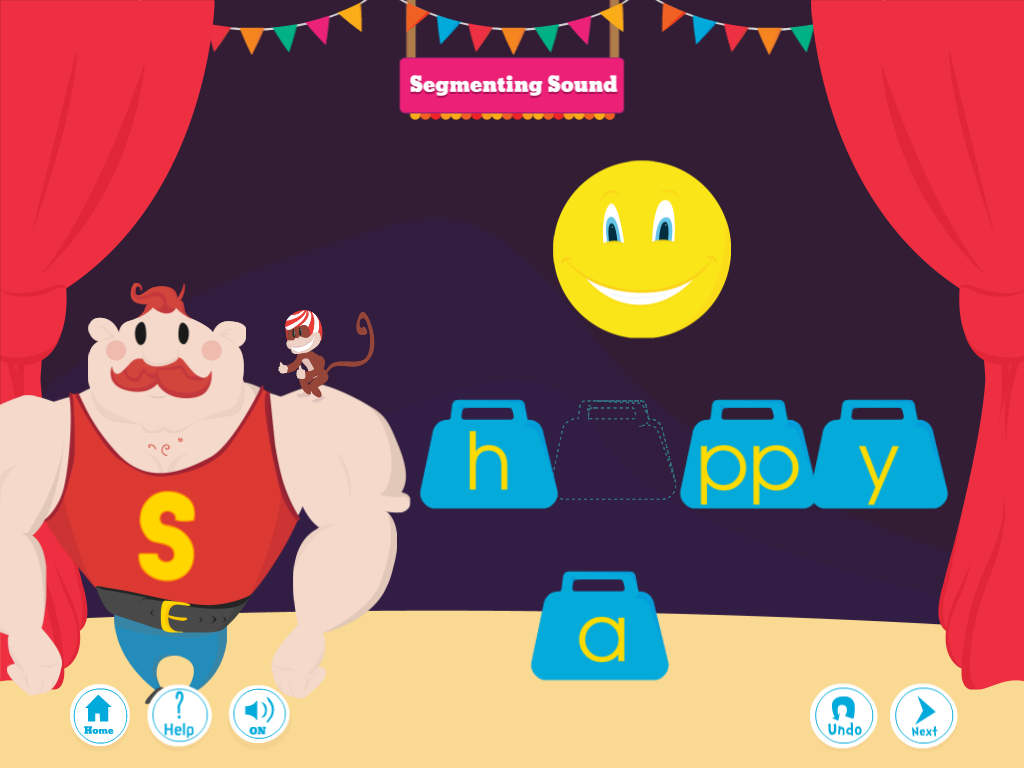 Phonics Under the Big Top: Adv- screenshot