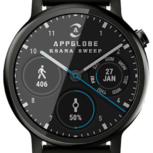 🕐 Ksana Sweep Watch Face for Android Wear OS Screenshot