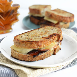 Muenster, Apple, and Maple Bourbon Bacon Grilled Cheese