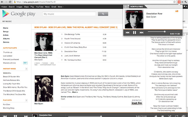 google play music manager for chrome
