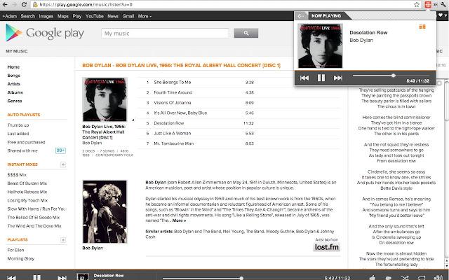 google play musique site web