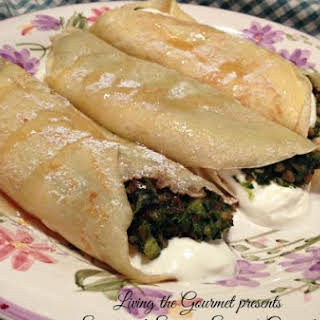 Sweet and Savory Spinach Crepes.