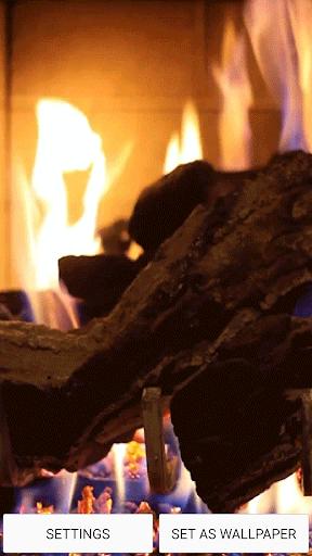 暖炉音 ライブ壁紙